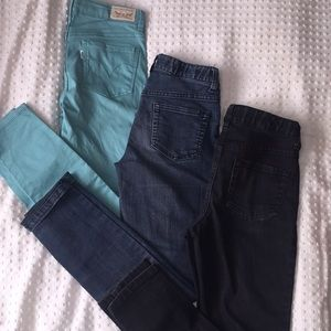 Bundle of 3 pairs of girls size 10 skinny jeans